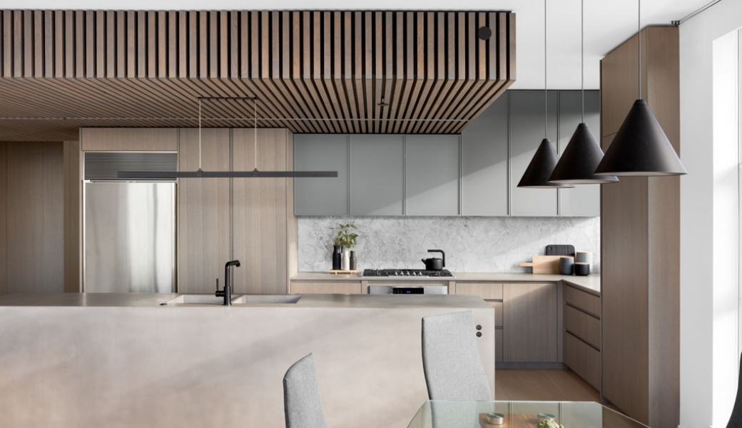 Esplanade Penthouse, Vancouver, Remodelled by Vertical Grain Projects and Millwork.